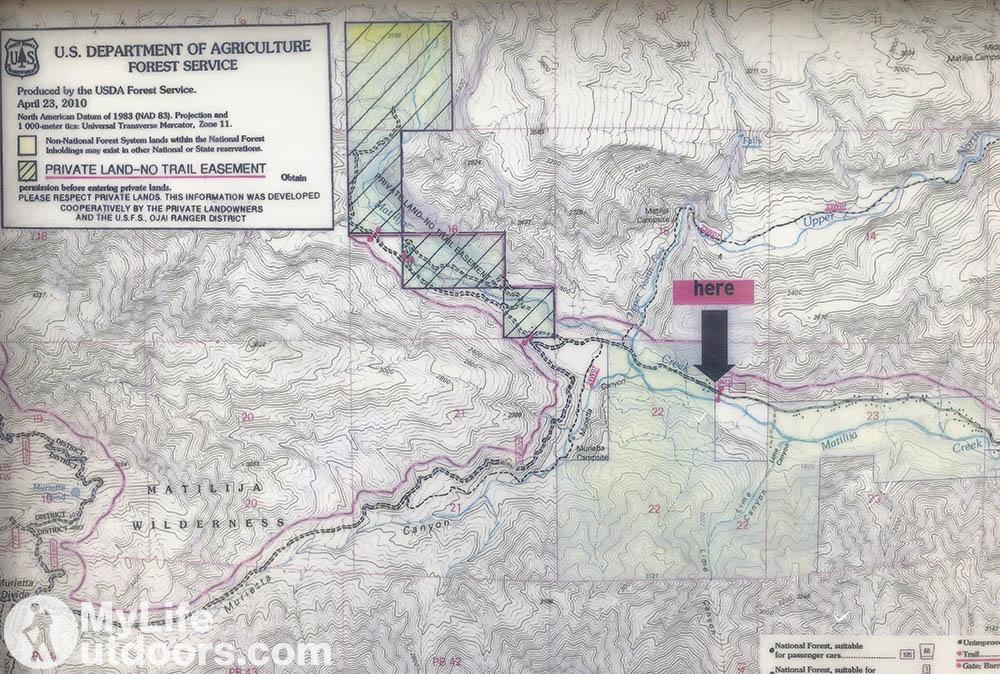 No Trail Easement Matilija Canyon