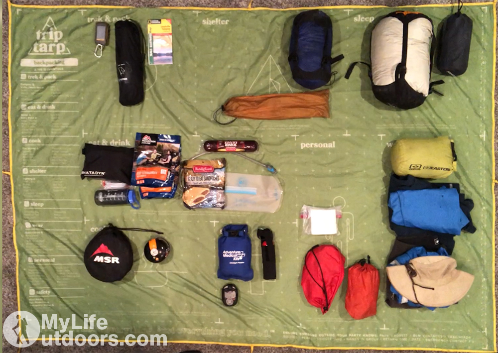 TripTarp with Gear Laid out